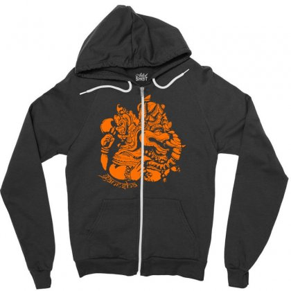 Ganesh Zipper Hoodie Designed By Specstore