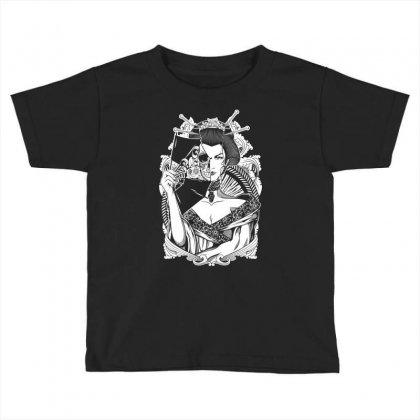 Half Dead Geisha Toddler T-shirt Designed By Specstore