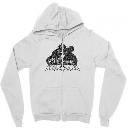 Ilumination Doodle Zipper Hoodie Designed By Specstore