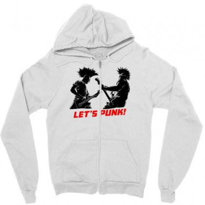 Lets Punk Zipper Hoodie Designed By Specstore