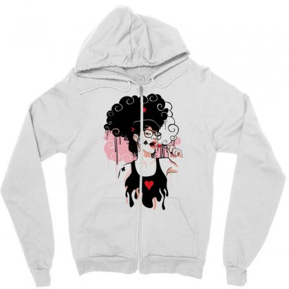 Lollipop Girl Zipper Hoodie Designed By Specstore