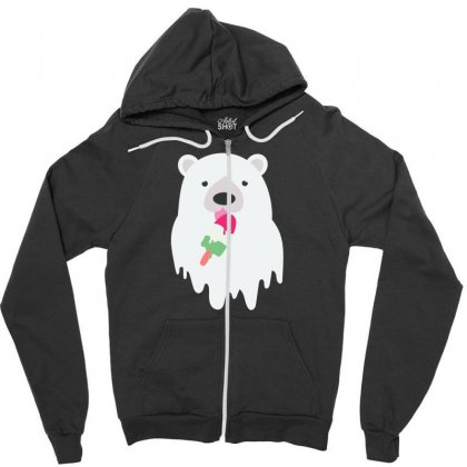 Melted Polar Cream Zipper Hoodie Designed By Specstore
