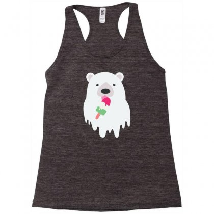 Melted Polar Cream Racerback Tank Designed By Specstore