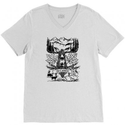 Oh Canada V-neck Tee Designed By Specstore