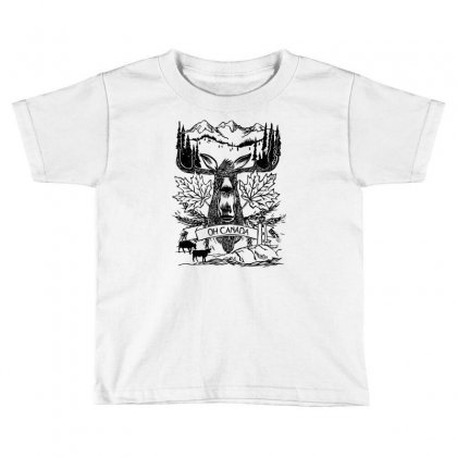 Oh Canada Toddler T-shirt Designed By Specstore