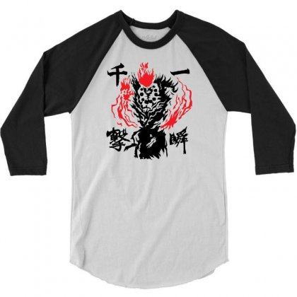 Raging Demon 3/4 Sleeve Shirt Designed By Specstore