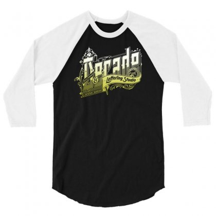 Decade Lettering 3/4 Sleeve Shirt Designed By Buckstore