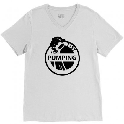 Fist Pumping V-neck Tee Designed By Ditreamx