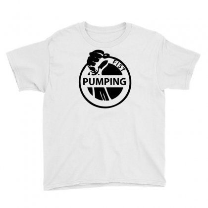 Fist Pumping Youth Tee Designed By Ditreamx