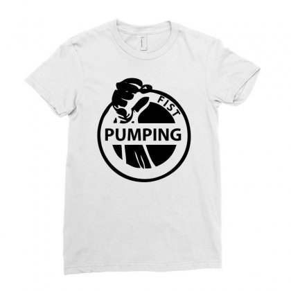 Fist Pumping Ladies Fitted T-shirt Designed By Ditreamx