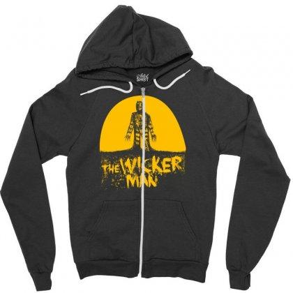 The Wicker Man Zipper Hoodie Designed By Thesamsat