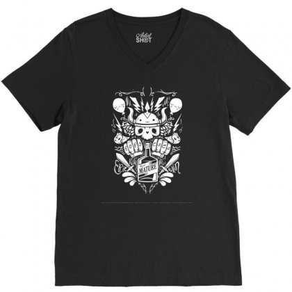 Real Mature V-neck Tee Designed By Specstore