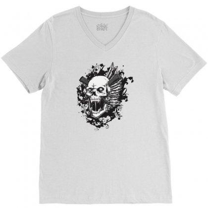 Sealed Vampire Skull V-neck Tee Designed By Specstore