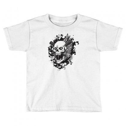 Sealed Vampire Skull Toddler T-shirt Designed By Specstore