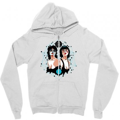 Sexy And Skull Zipper Hoodie Designed By Specstore