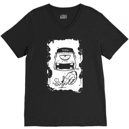 Stop Smoking V-neck Tee Designed By Specstore