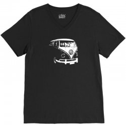 VW Split Screen T1 Camper Van V-Neck Tee | Artistshot