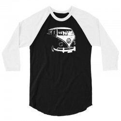 VW Split Screen T1 Camper Van 3/4 Sleeve Shirt | Artistshot