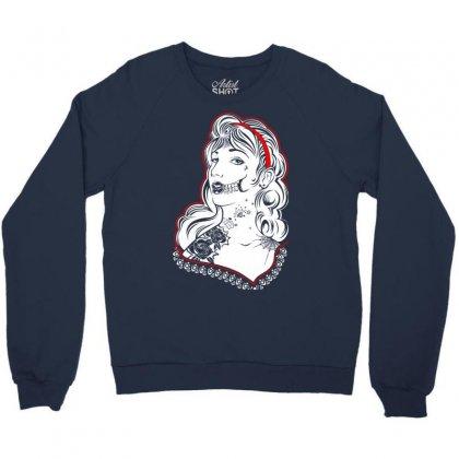 Sugar Skull Women White Crewneck Sweatshirt Designed By Specstore