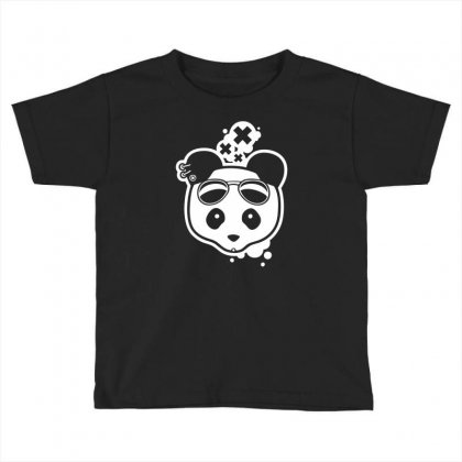 Super Hippies Panda Toddler T-shirt Designed By Specstore