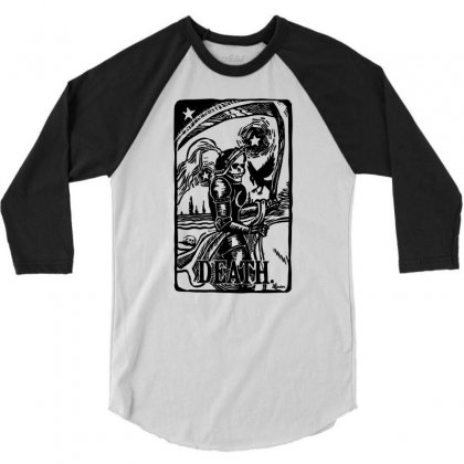 Tarot Death Card 3/4 Sleeve Shirt Designed By Specstore