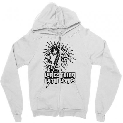 Wrestling With Words Zipper Hoodie Designed By Specstore
