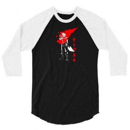 Kanji Japanese Style 3/4 Sleeve Shirt Designed By Thesamsat
