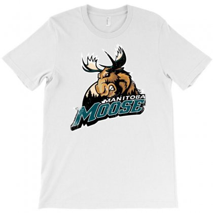 Manitoba Moose Ahl T-shirt Designed By Thesamsat
