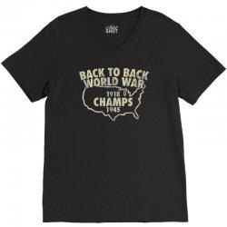 Back to back world war champs V-Neck Tee | Artistshot