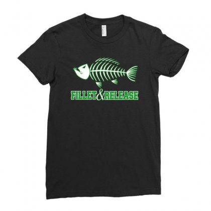 Fillet And Release Ladies Fitted T-shirt Designed By Buckstore