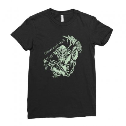 Gloves Mask Skull Ladies Fitted T-shirt Designed By Buckstore