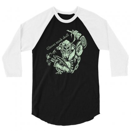 Gloves Mask Skull 3/4 Sleeve Shirt Designed By Buckstore