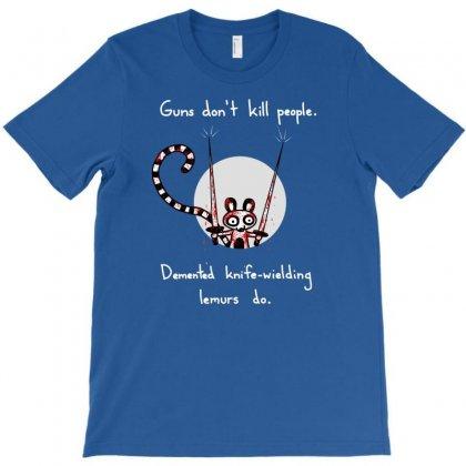 Knife-wielding Lemur T-shirt Designed By Thesamsat
