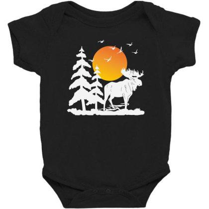 Moose And Moon Baby Bodysuit