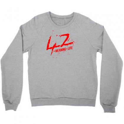 42 The Meaning Life Crewneck Sweatshirt Designed By Specstore