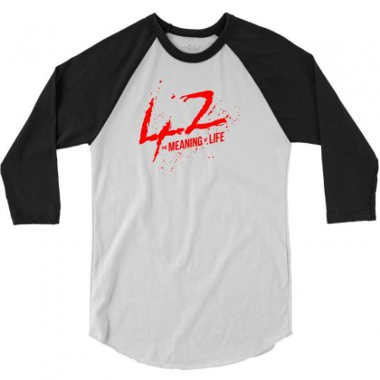 42 The Meaning Life 3/4 Sleeve Shirt Designed By Specstore