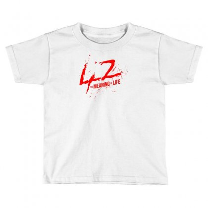 42 The Meaning Life Toddler T-shirt Designed By Specstore