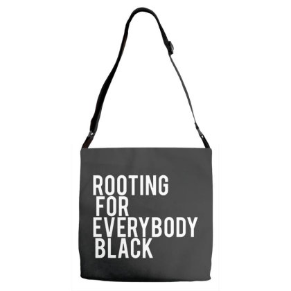 Rooting For Everybody Black Adjustable Strap Totes Designed By Feniavey