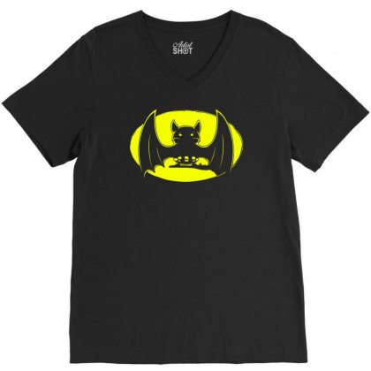 Bat Moon V-neck Tee Designed By Specstore