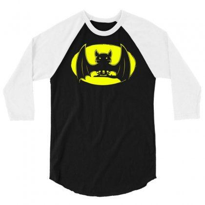 Bat Moon 3/4 Sleeve Shirt Designed By Specstore
