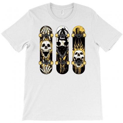 Burned Skate Skull T-shirt Designed By Specstore