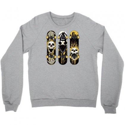 Burned Skate Skull Crewneck Sweatshirt Designed By Specstore