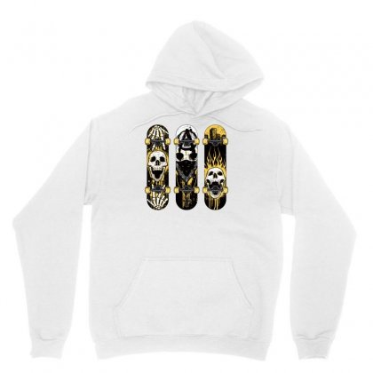 Burned Skate Skull Unisex Hoodie Designed By Specstore