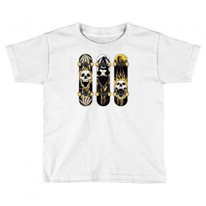 Burned Skate Skull Toddler T-shirt Designed By Specstore