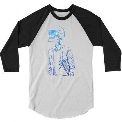 Gentleman Skull 3/4 Sleeve Shirt Designed By Specstore