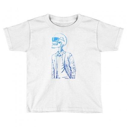 Gentleman Skull Toddler T-shirt Designed By Specstore