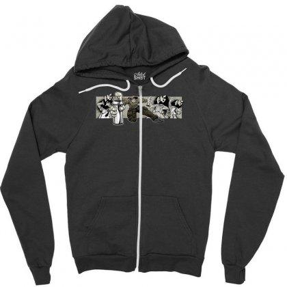Graffiti Man Zipper Hoodie Designed By Specstore