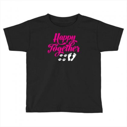 Happy Together With Pet Toddler T-shirt Designed By Specstore