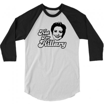 Hot For Hillary 3/4 Sleeve Shirt Designed By Specstore