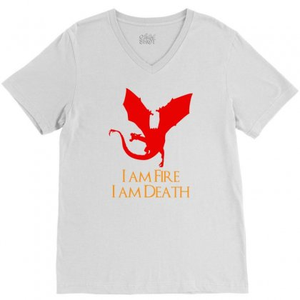 I Am Fire I Am Death V-neck Tee Designed By Specstore
